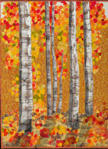 """Aspen Trees in Autumn Splendor"""