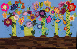 "Juror's Pick #5, ""Spooling Around the Garden"" by Kari Harvey"